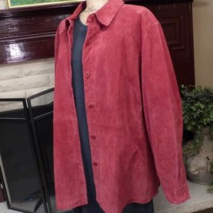Dialogue 100% suede top style jacket